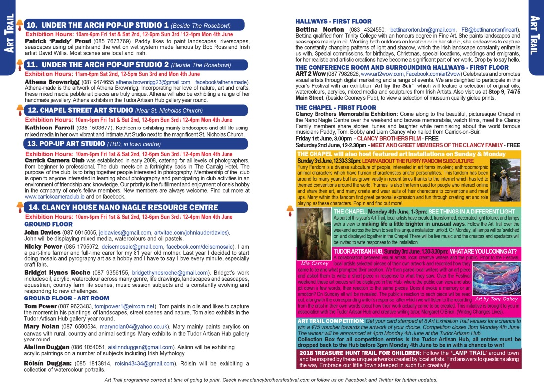 Clancy Brothers Festival Brochure 14 & 15