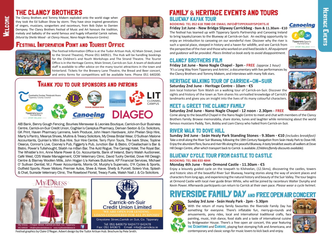 Clancy Brothers Festival Brochure 2 & 3